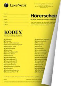Hörerschein Kodex