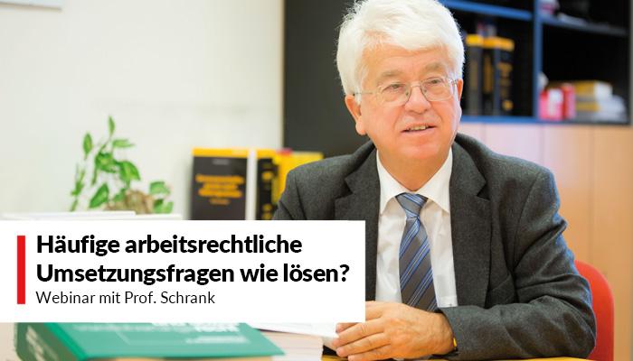 Webinar mit Prof. Schrank