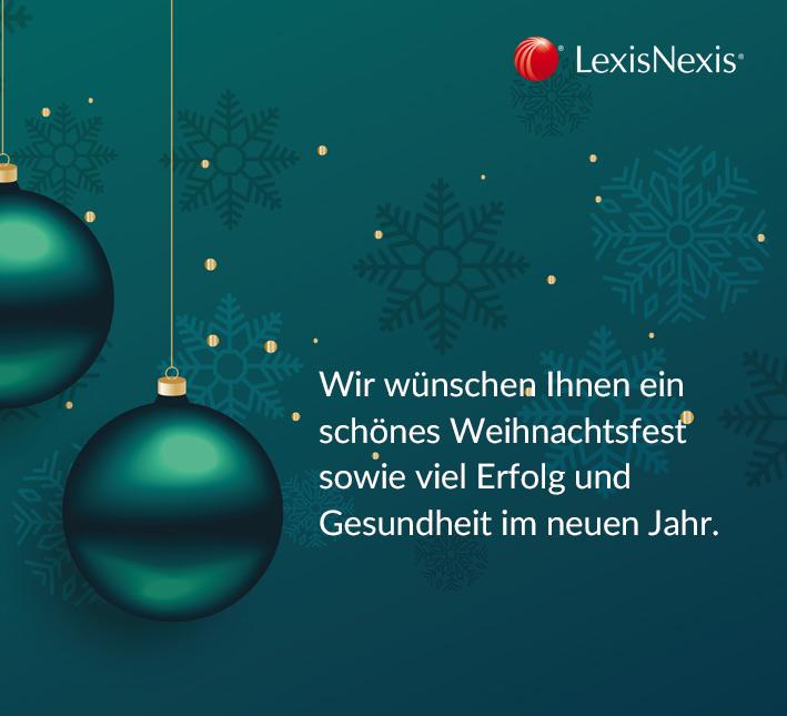 Feiertagswünsche und ein Best-of-2018 von LexisNexis!